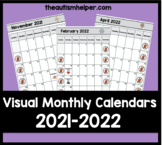 2021-2022 Visual Monthly Calendars for Children with Autism