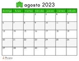 2021-2022 Year Calendar in Spanish!
