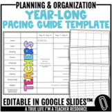 2021 & 2022 Year-Long Pacing Guide Template