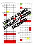 2021-2022 Year at a Glance Editable Academic Planning Calendars