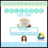 2021-2024 SLP EDITABLE GOOGLE CALENDAR