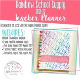 2021-22 Teacher Lesson Planner (Rainbow School Supplies Themed)
