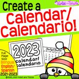 2021 BILINGUAL Calendar Spanish English Calendario Parent