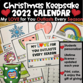 2021 Calendar Christmas Gift for Students to Give: My Love