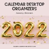 2021 Calendar Desktop Organizer Wallpaper