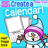 2021 Calendar HALF-PAGE {Printable Monthly} Parent Christm