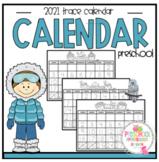 2021 Calendar Number Trace