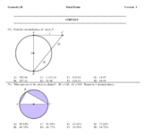 2021 Geometry Honors Final Exam -- 10 different versions, pdf format