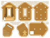 2021 Gingerbread House Photo Frame Pin Ornament DIY patter