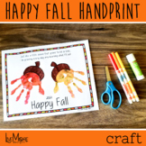 2021 Happy Fall Handprint and Poem Printable Craft - Art