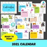 2021 Holiday Calendar - Ready to Print, Includes US Holida
