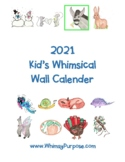 2021 Kid's Whimsical Wall Calendar
