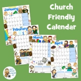 2021 Kids Ministry calendar - blank. (Growing pack)
