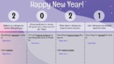 2021 New Year Reflection and Growth Mindset DIGITAL GOOGLE SLIDE