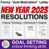 Resolutions NO PREP Goal Setting Handouts plus 20 Motivati
