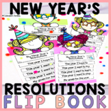2021 New Year's Resolutions Goals Foldable Flip Book   Writing and Craft