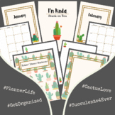 2021 Planner Cactus Succulent Google Slides Planner May Calendar