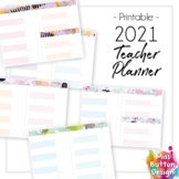 2021 Printable Teacher Diary Planner - Day to a Page - NSW