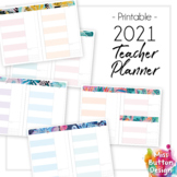2021 Printable Teacher Diary Planner - Day to a Page - QLD