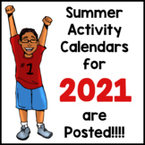2021 Summer Learning Calendars are Posted!