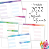 2022 Printable Teacher Diary Planner - Day to a Page - NSW
