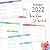 2022 Printable Teacher Diary Planner - Day to a Page - SA