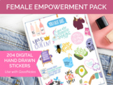 204 Digital Female Empowerment Clip Art - Sticker PNGs and