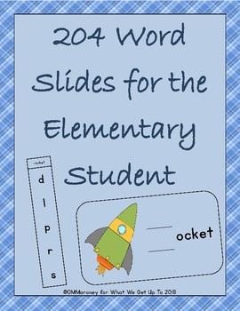 204 Word Slides for the Elementary Student