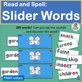 Read and Spell: Slider Words | Phonics is Fun!