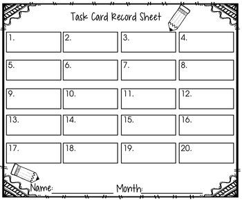 208 Language Arts Center Task Cards:  Grades 1st-2nd