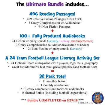 398 Reading Comprehension Passages and Questions ULTIMATE BUNDLE