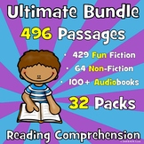 421 Reading Comprehension Passages and Questions ULTIMATE BUNDLE