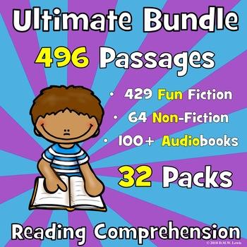 Ultimate Reading Comprehension BUNDLE: 496 Reading Comprehension Passages