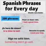 209 Spanish phrases with their English translation