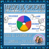 AP Spanish Practice Reading Writing Listening Speaking  Choice Board