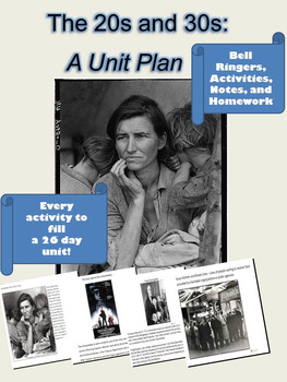20s and 30s: A Unit Plan