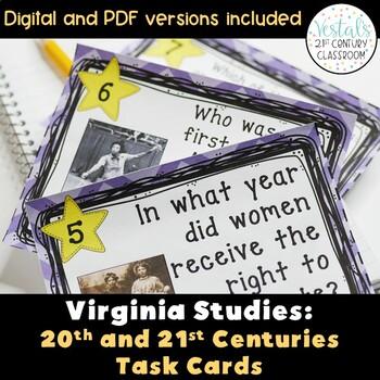 20th & 21st Century: Virginia Studies Task Cards
