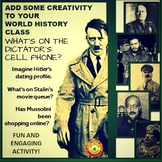 World Dictators: What's on Their Phones?  Creative Character Study