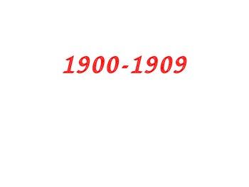 20th Century: 1st decade Power Point