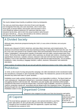 20th Century American History Revision Guide