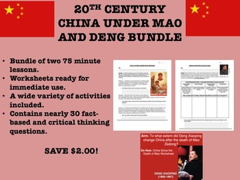 20th Century China under Mao and Deng Bundle – Global/World History Common Core