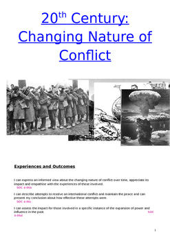 20th Century Conflict Booklet