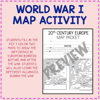 20th Century Europe Map Packet