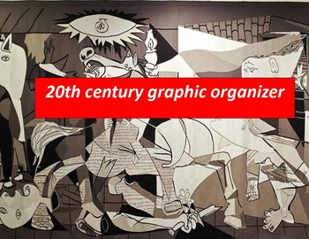 20th Century Graphic Organizer:  Entire century on one page 14 x 8.5