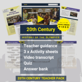 20th Century   History Of The Olympics Activity Pack and A