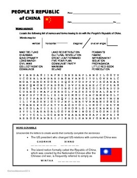 20th Century History - Worksheets, Puzzles and other Activities