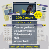 20th Century (In One Take) Activity Pack and Award-winning Video