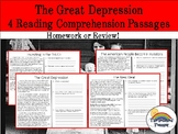 The Great Depression Reading Comprehension Packet (homewor