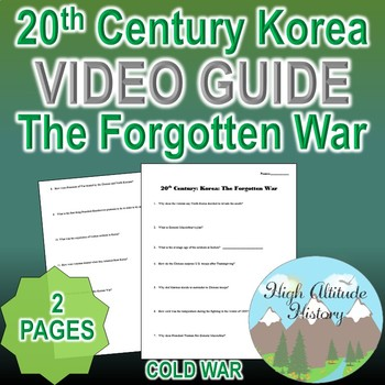 20th Century Korea: The Forgotten War Original Video Guide Questions