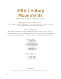 20th Century Movements and Literature